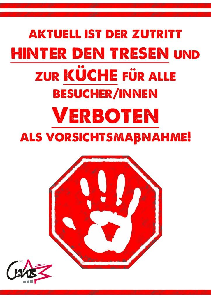 Copy of küchetresen zutritt verboten